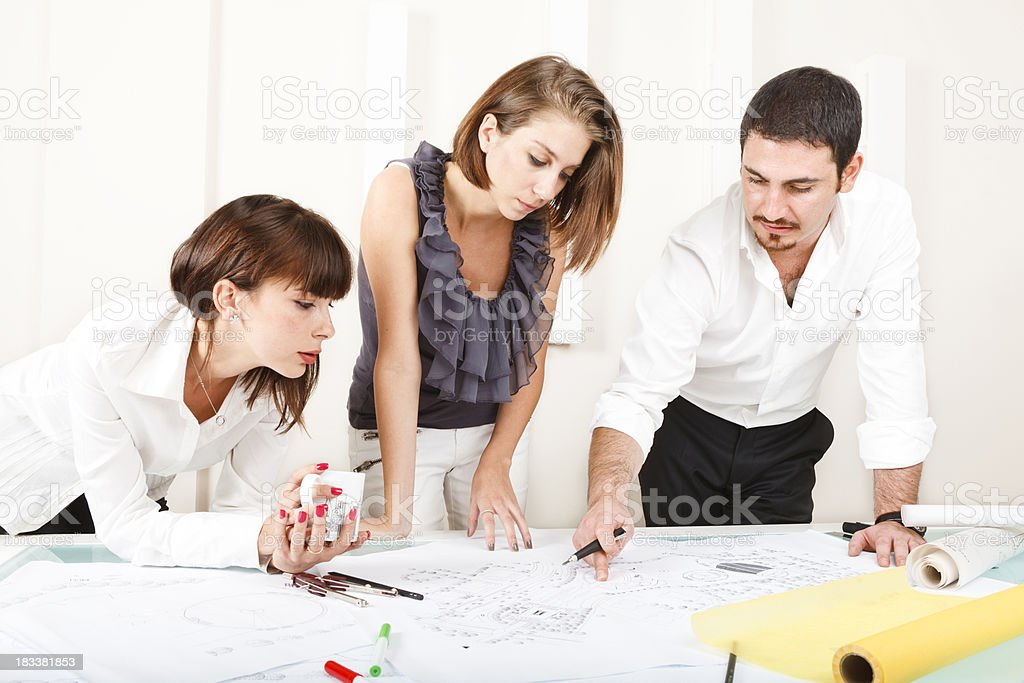 Architect & Client Meeting royalty-free stock photo