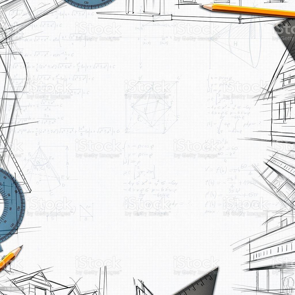 architect constructor designer background stock photo