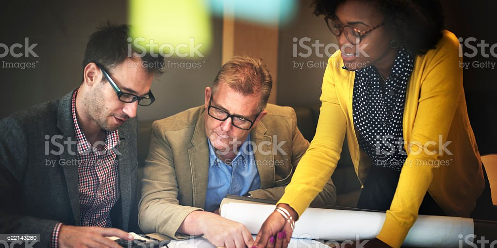 Architect Design Project Meeting Discussion Concept stock photo