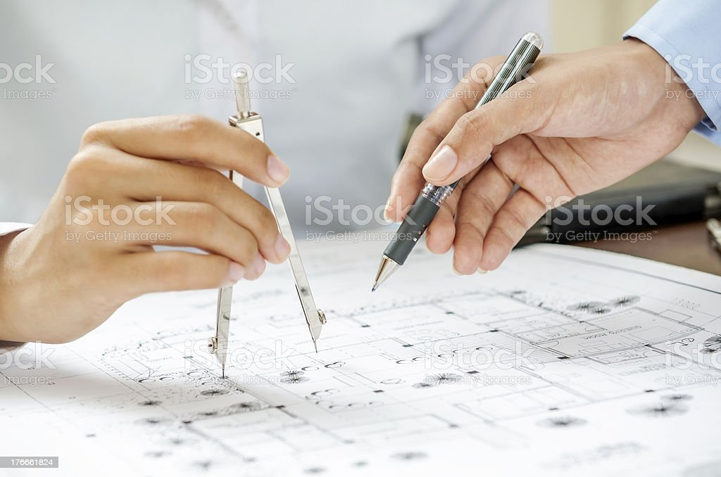 Architect discussion royalty-free stock photo