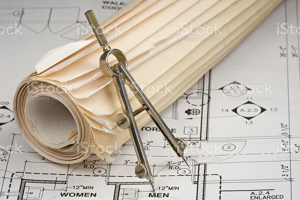 Architect Drawings royalty-free stock photo