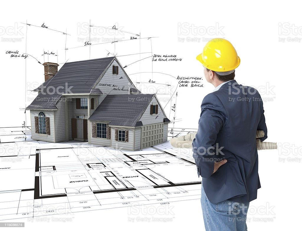 Architect envisioning his project royalty-free stock photo
