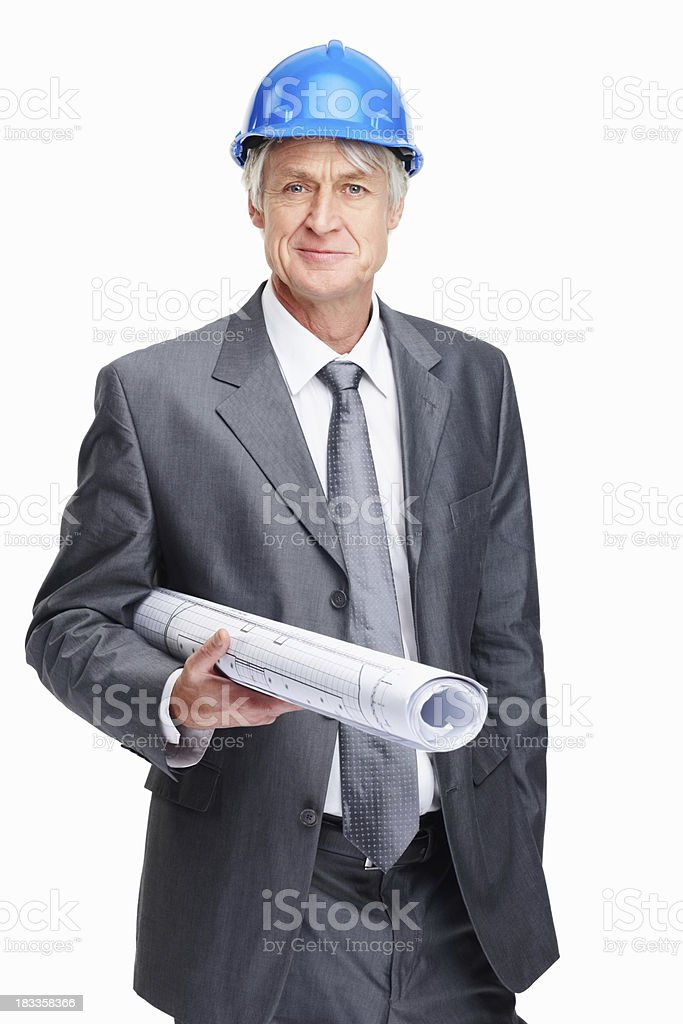 Architect heading to building site royalty-free stock photo