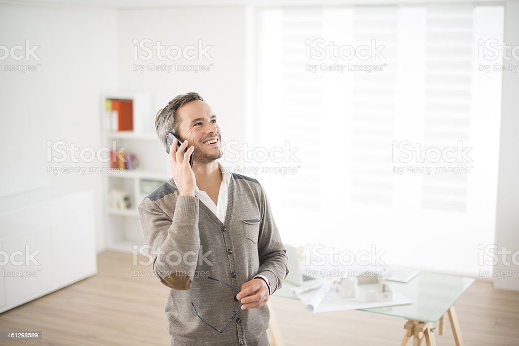 architect in his office royalty-free stock photo