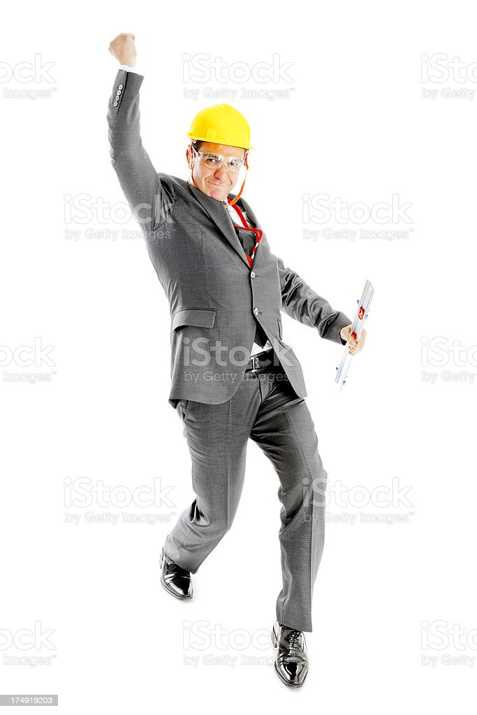 Architect is excited about project royalty-free stock photo