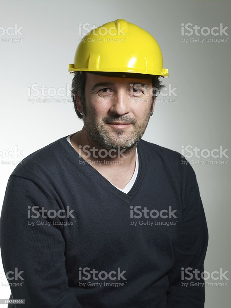 Architect looking at the camera royalty-free stock photo