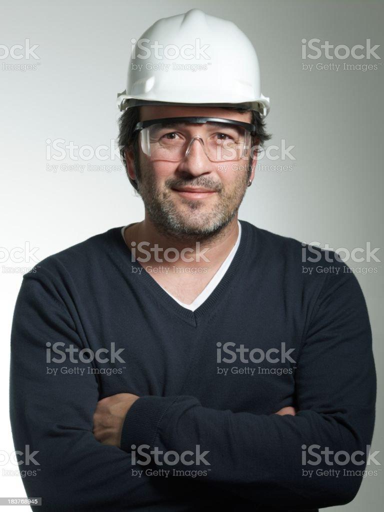 Architect looking at the camera stock photo