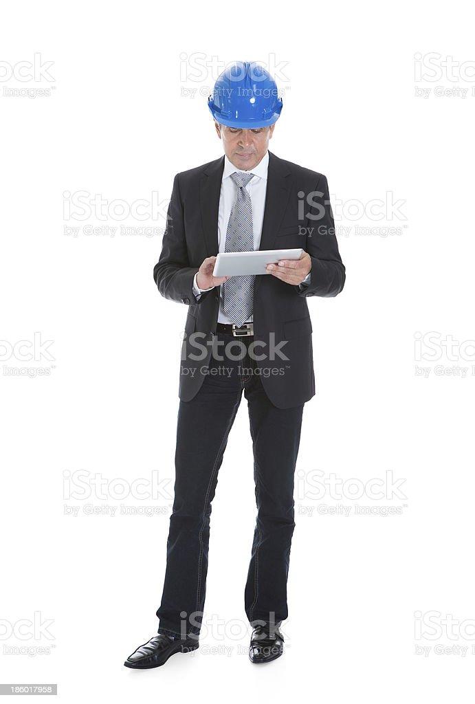 Architect Man Using Digital Table royalty-free stock photo