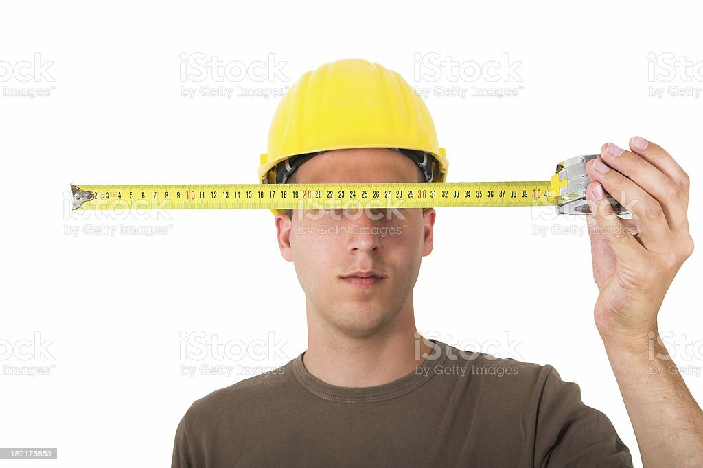 Architect measuring royalty-free stock photo