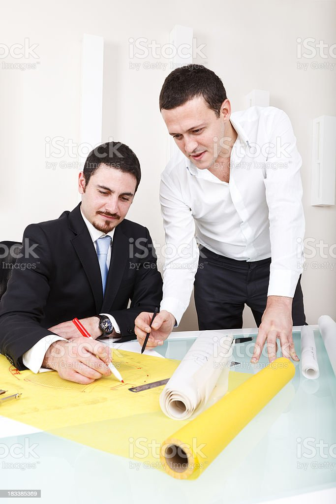 Architect Meeting royalty-free stock photo