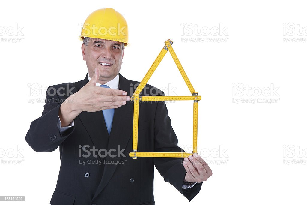 architect of the new housing project royalty-free stock photo