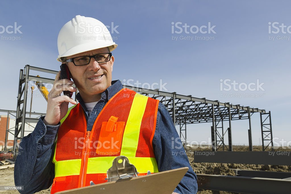 Architect on a Call royalty-free stock photo