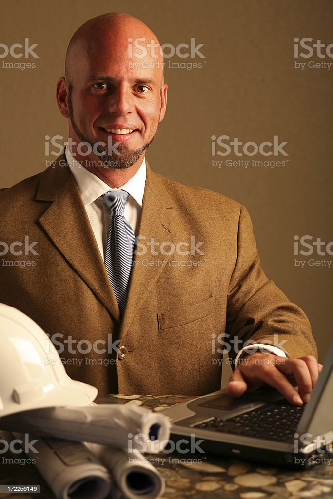 Architect on duty royalty-free stock photo