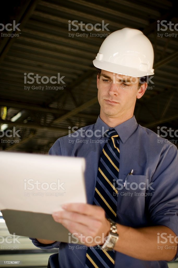Architect on Site royalty-free stock photo
