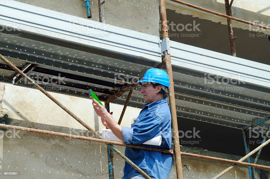 Architect Planning in Construction Site. royalty-free stock photo