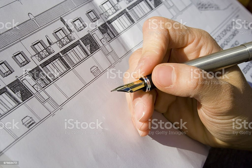 Architect project royalty-free stock photo
