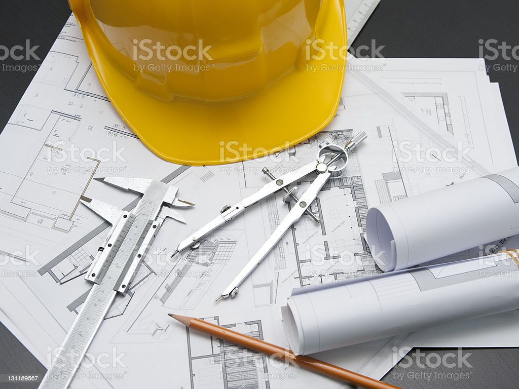 Architect tools royalty-free stock photo