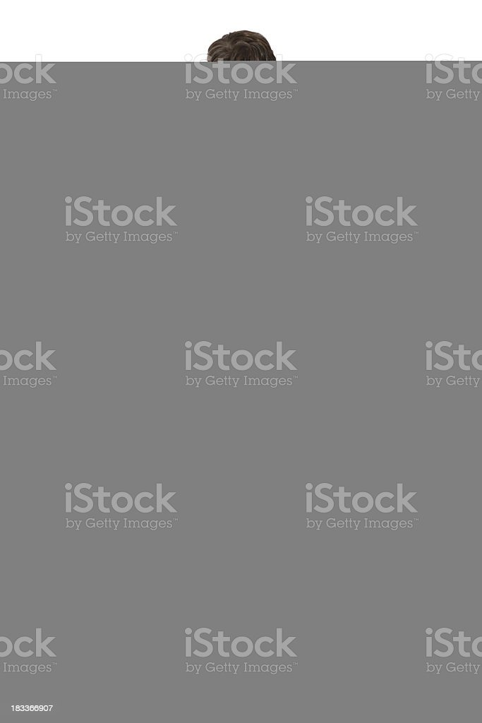 Architect with a bundle of blueprint royalty-free stock photo