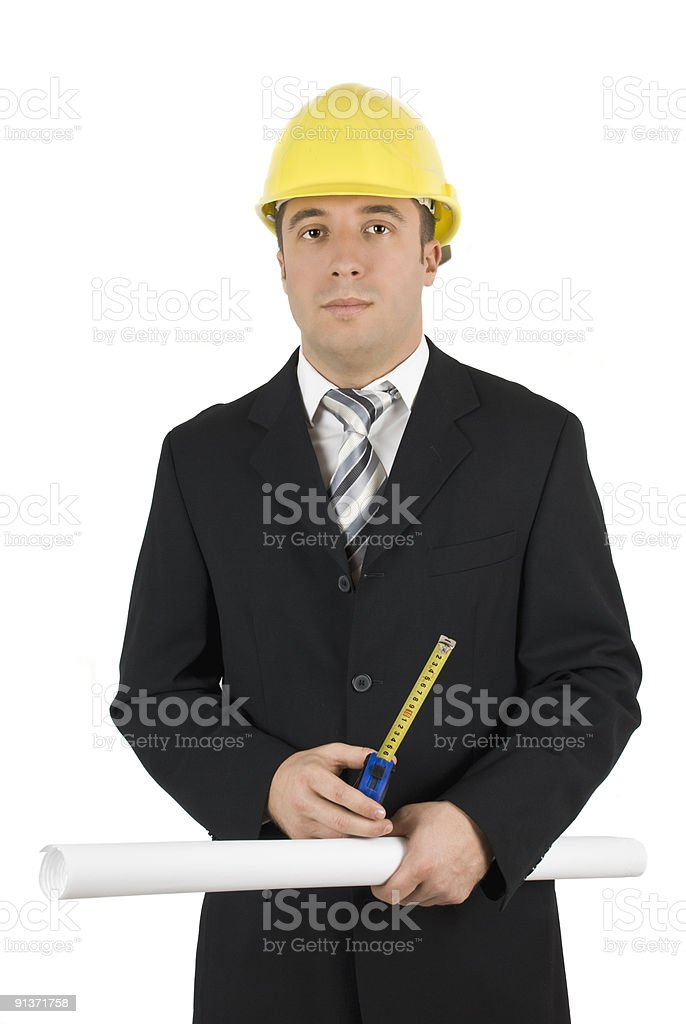 Architect with measurement tools royalty-free stock photo