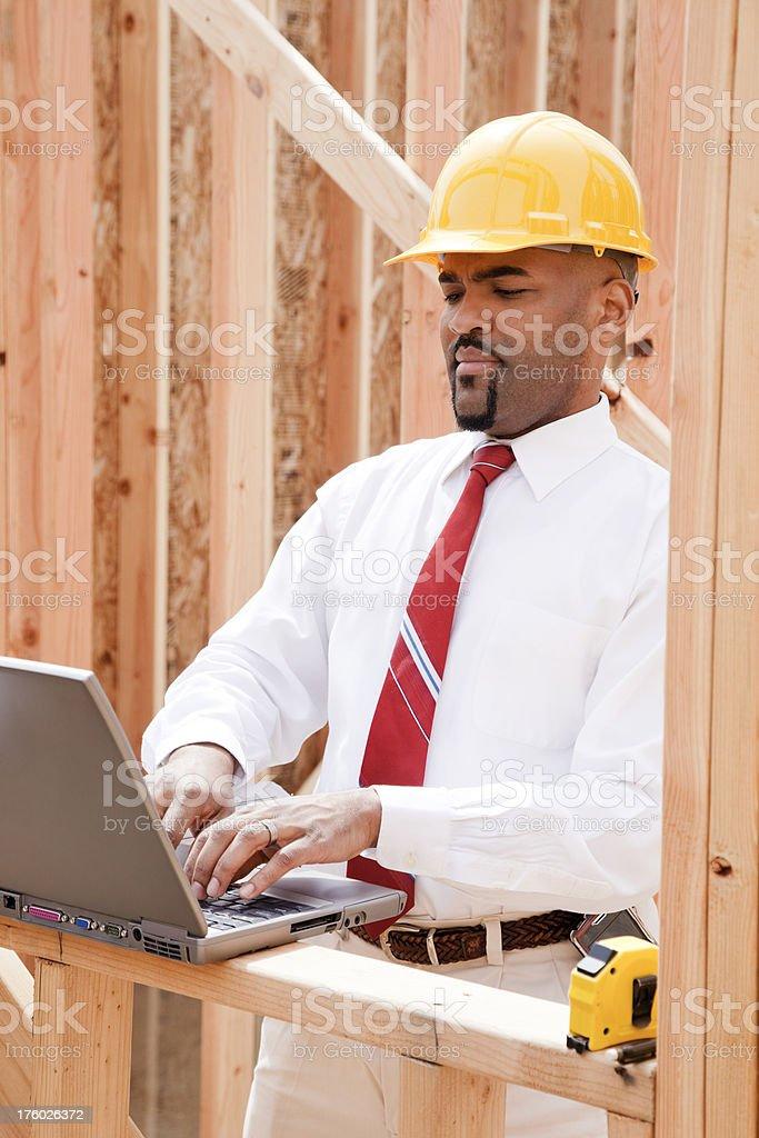 Architect working on Laptop royalty-free stock photo