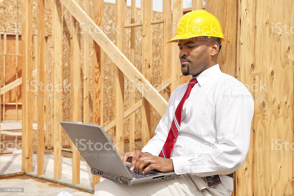 Architect working on Laptop royalty-free stock photo