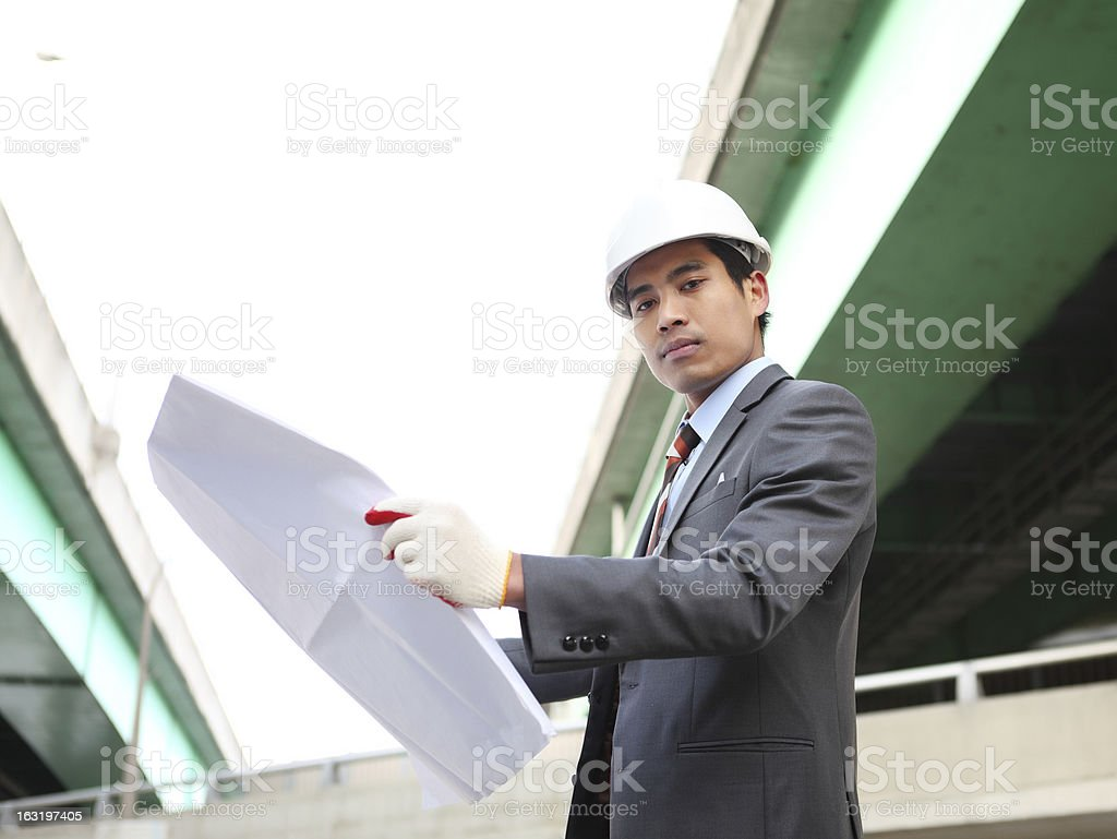 Architekten Arbeiten auf Planung Lizenzfreies stock-foto