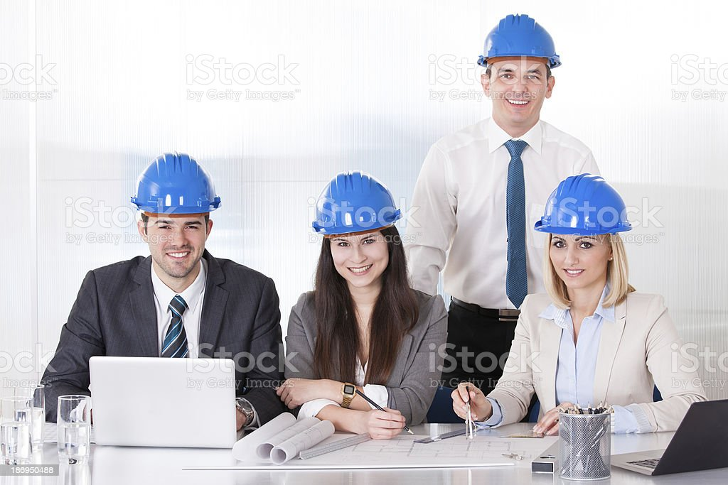 Architect Working On Project royalty-free stock photo
