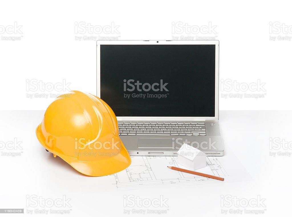 Architect workplace royalty-free stock photo
