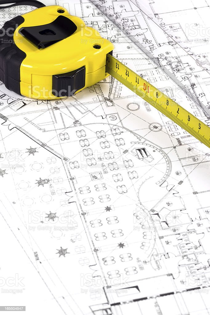 Architect workspace royalty-free stock photo