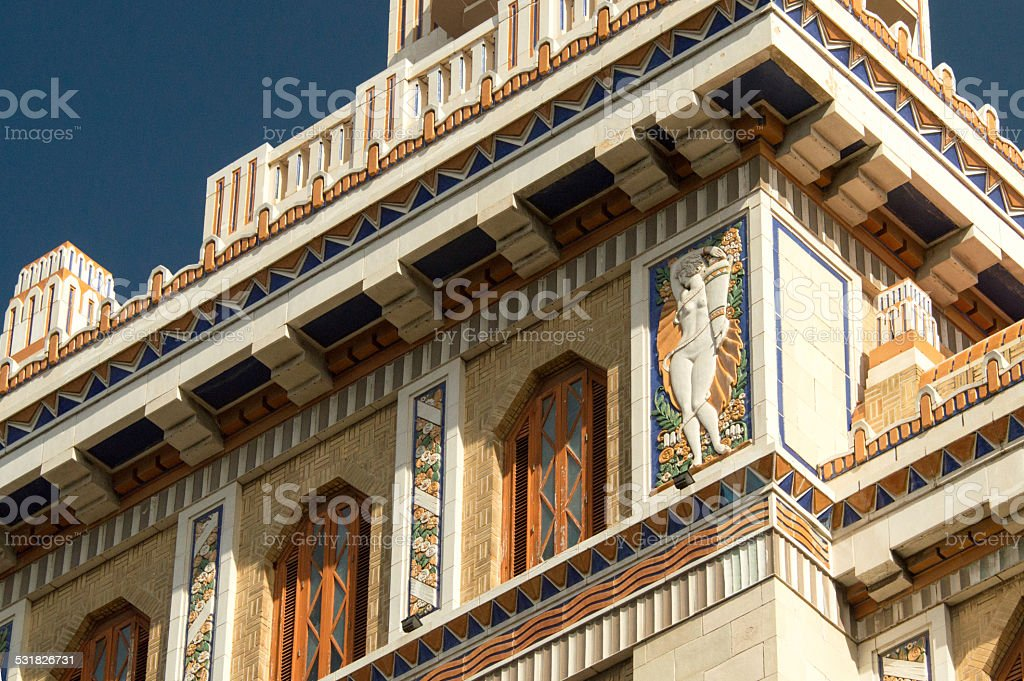 Architectral detail of the Bacardi building in Havanna, Cuba stock photo