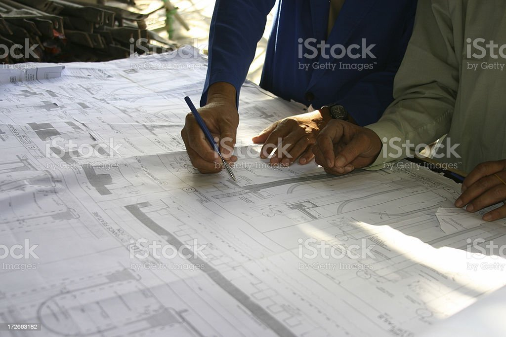 Architects 2 royalty-free stock photo