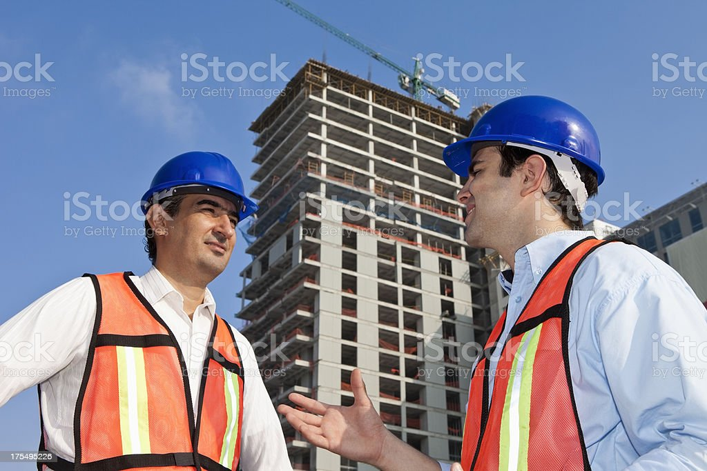 Architects at Construction Site royalty-free stock photo