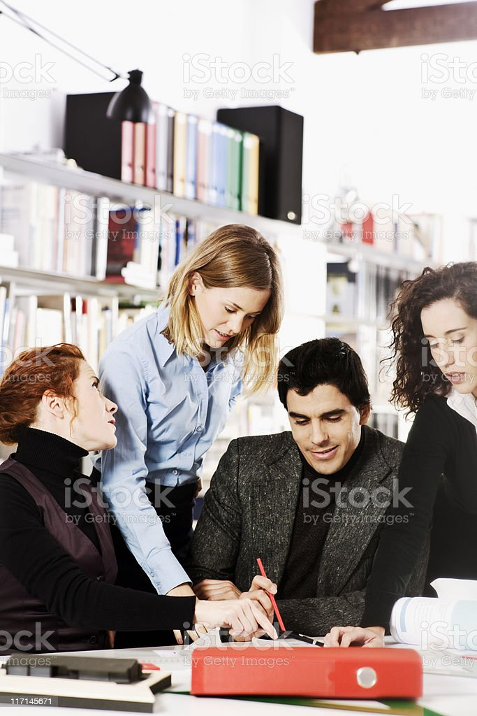 Architects at work in their studio. royalty-free stock photo