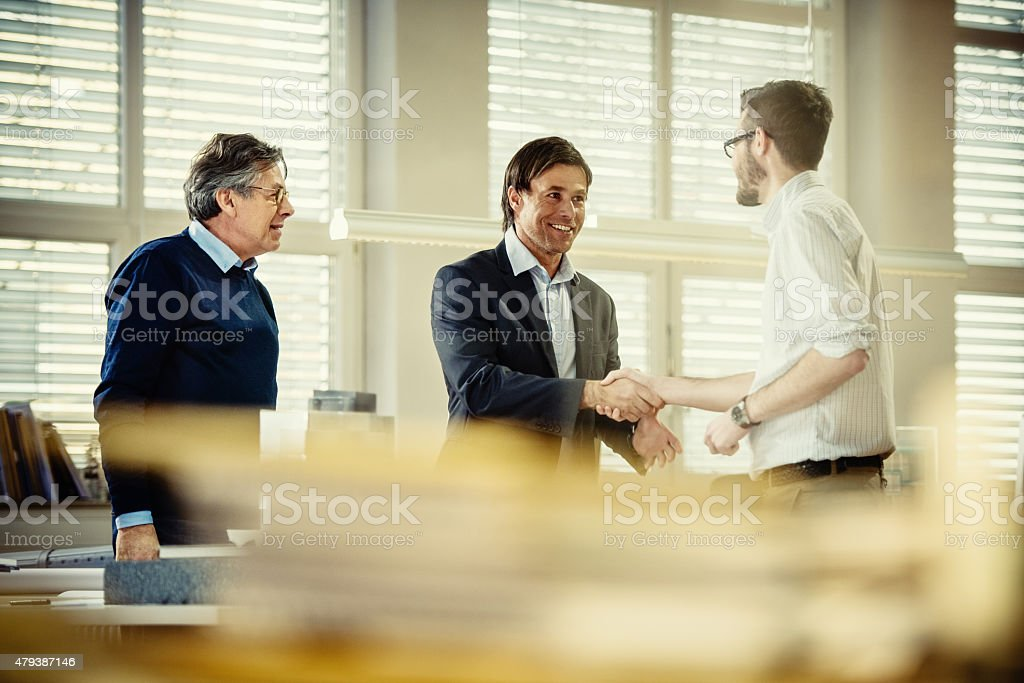 Architects at work stock photo