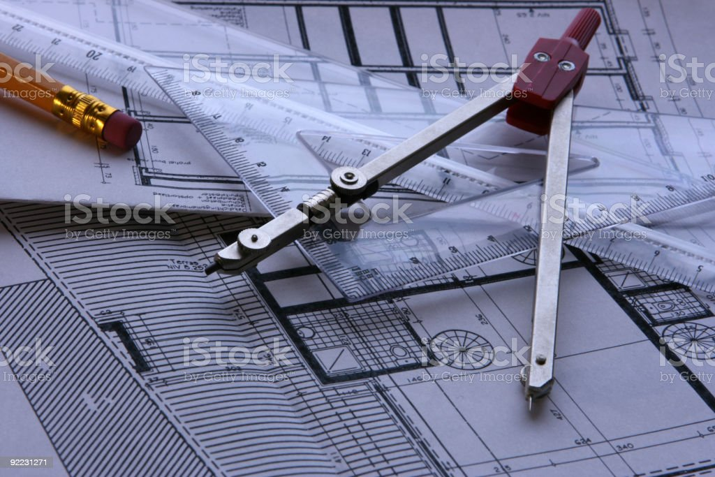 Architect's desk royalty-free stock photo