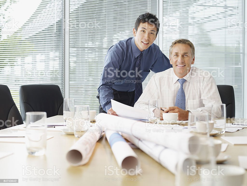 Architects meeting in conference room royalty-free stock photo