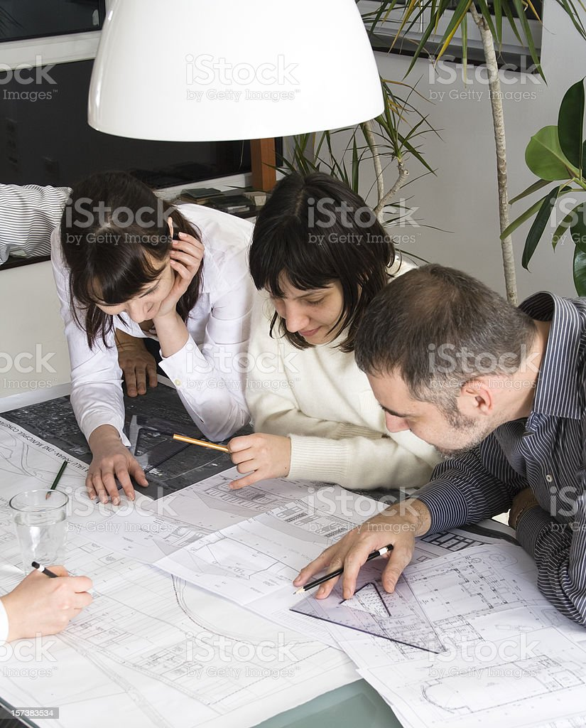 Architects meeting royalty-free stock photo