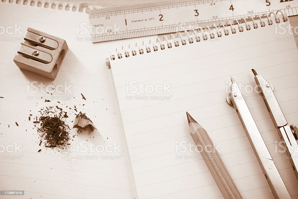 Architect's notepad royalty-free stock photo