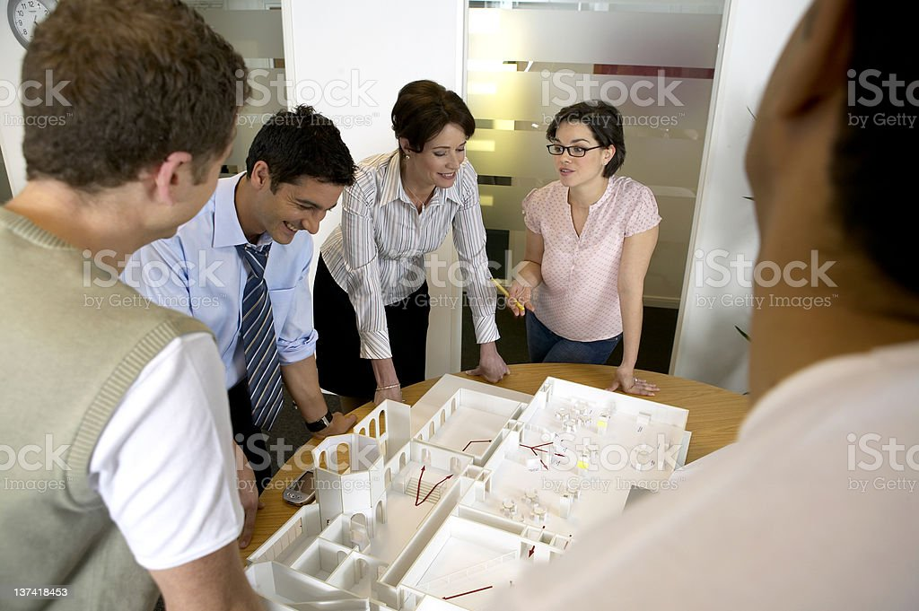 Architects presentation .N.B.* Mocked up plans royalty-free stock photo