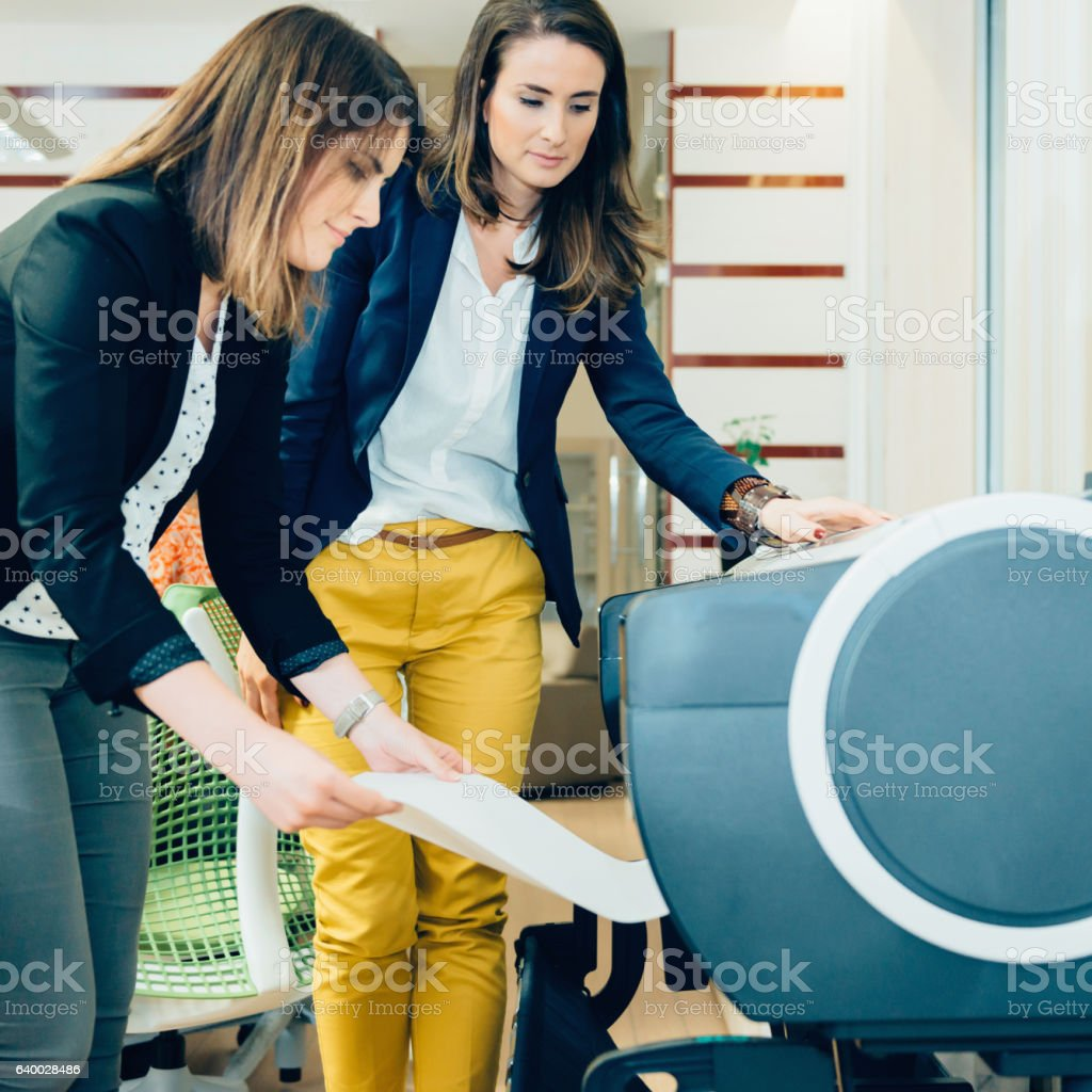 Architects printing project stock photo