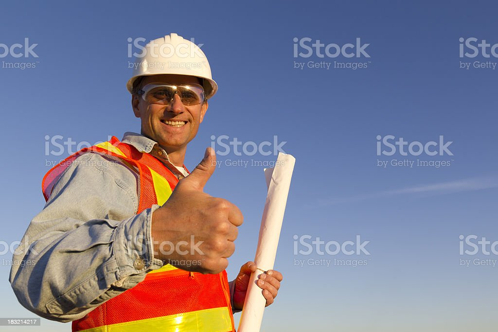 Architects Thumbs Up royalty-free stock photo