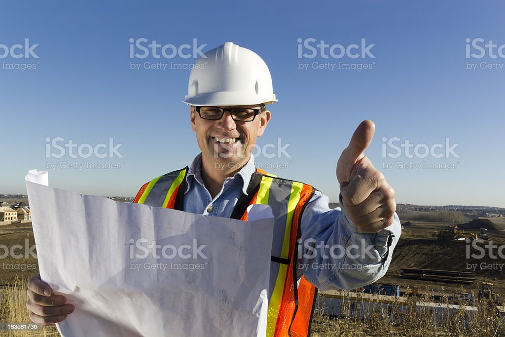 Architect's Thumbs Up royalty-free stock photo