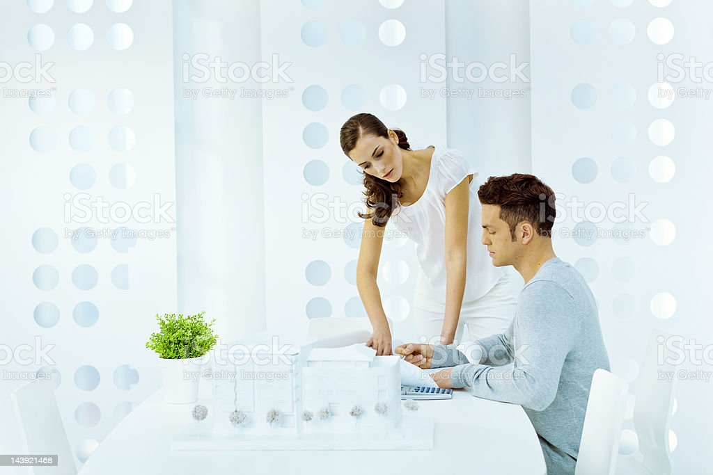 Architects working in a modern studio royalty-free stock photo