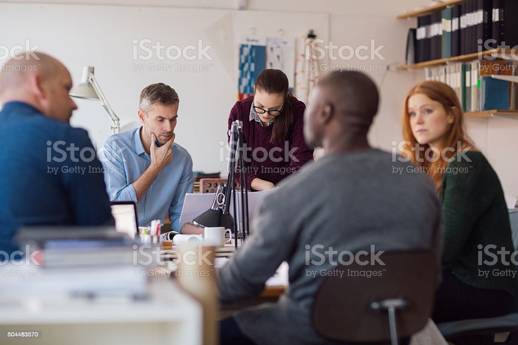 Architects working on project stock photo