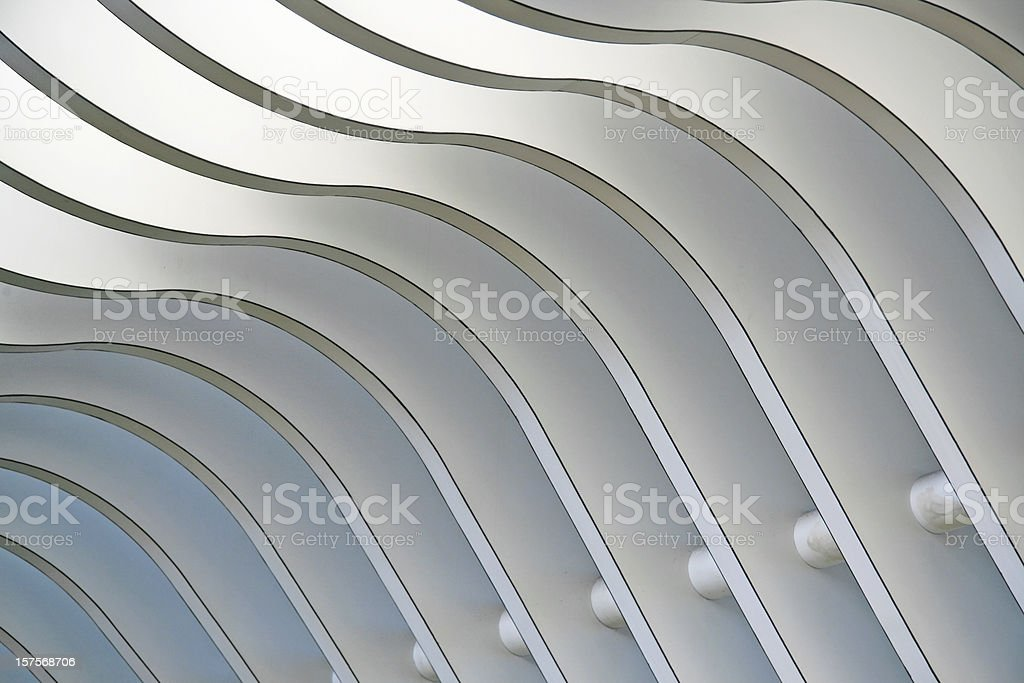 Architectural abstract 1 - Interior of a modern building stock photo