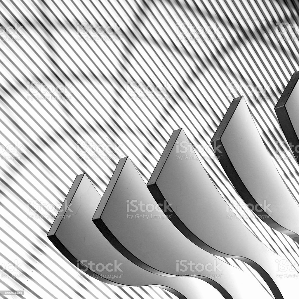 Architectural abstract 4 - Interior of a modern building stock photo