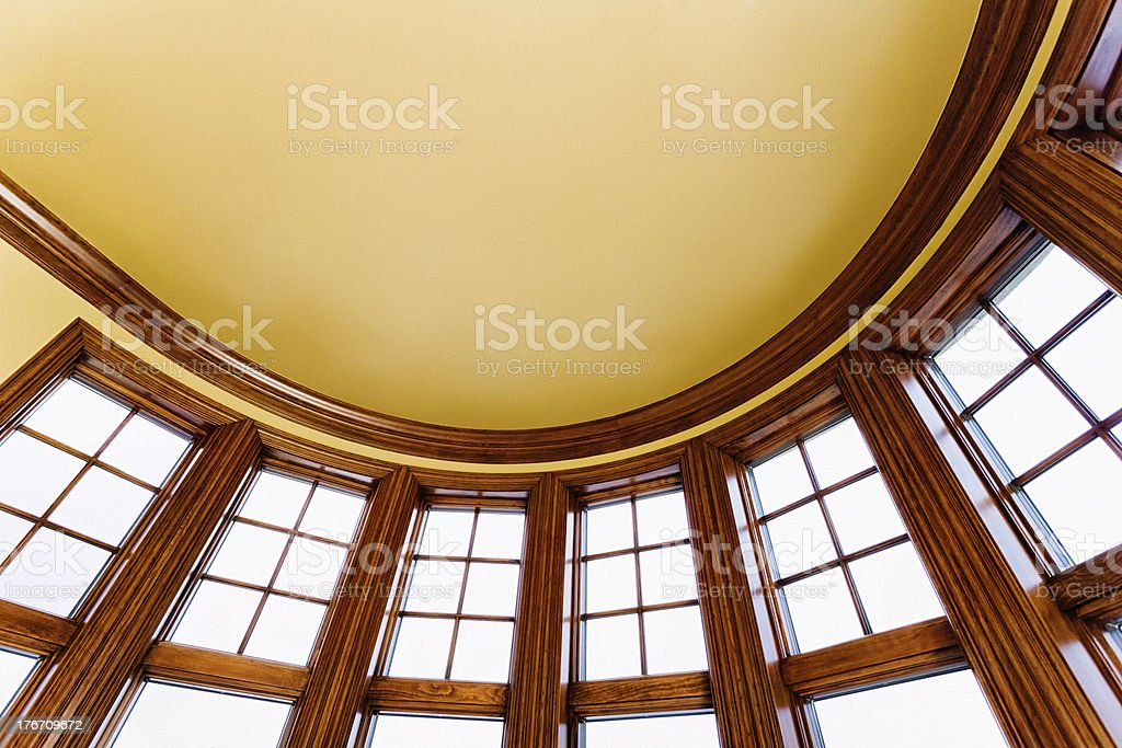 Architectural Abstract: Curved Ceiling and Windows royalty-free stock photo