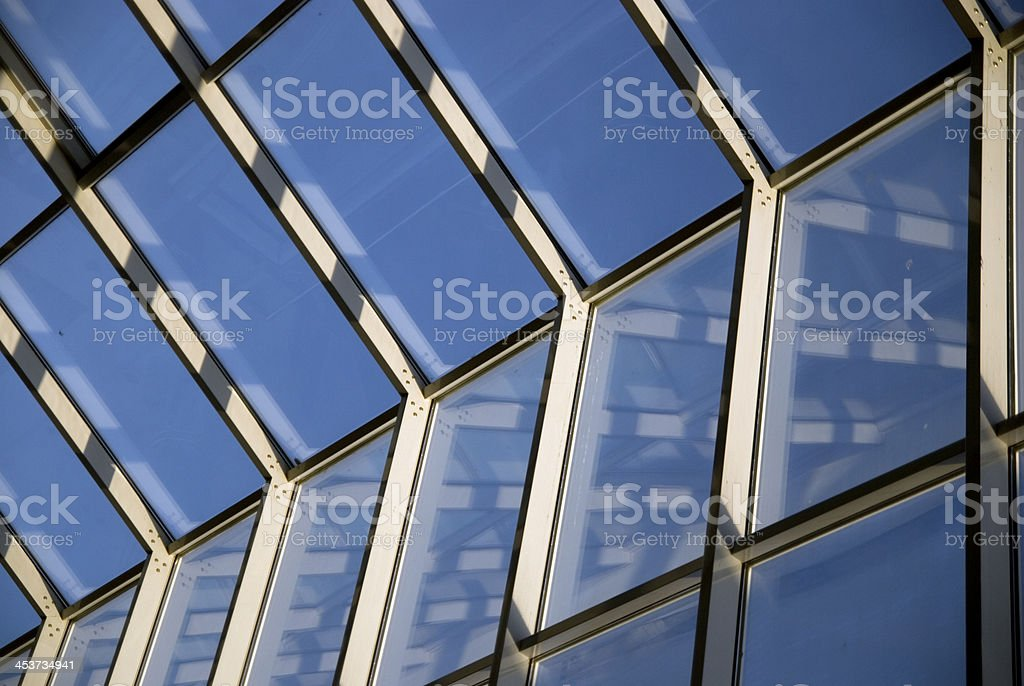 Architectural Abstract Glass roof ceiling royalty-free stock photo