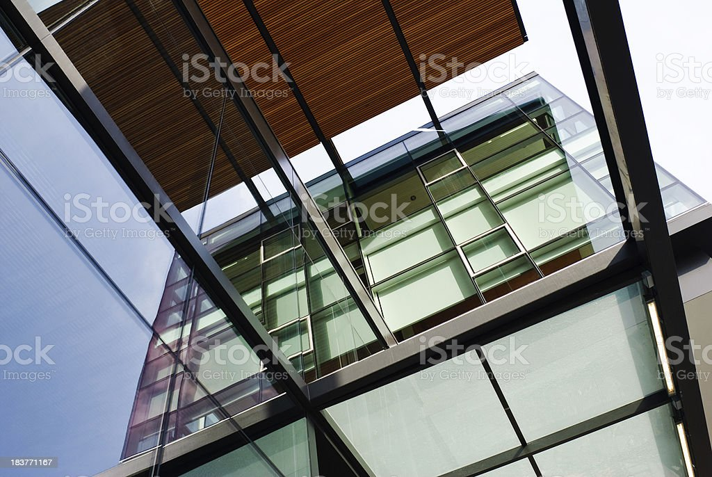 Architectural abstract outside modern building at University of Washington royalty-free stock photo