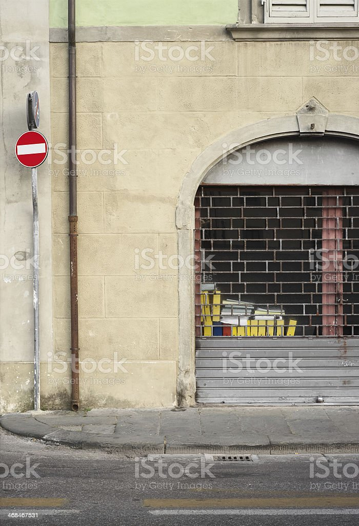 Architectural abstract with vivid colours stock photo